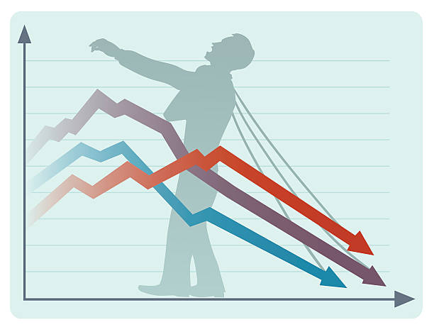 der wirtschaftliche kollaps - grimassen schneiden grafiken stock-grafiken, -clipart, -cartoons und -symbole