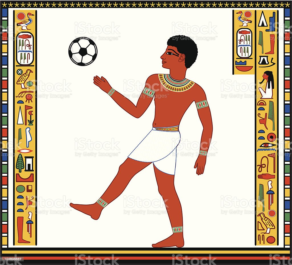 The Egyptian plays with a ball royalty-free the egyptian plays with a ball stock vector art & more images of american football - ball