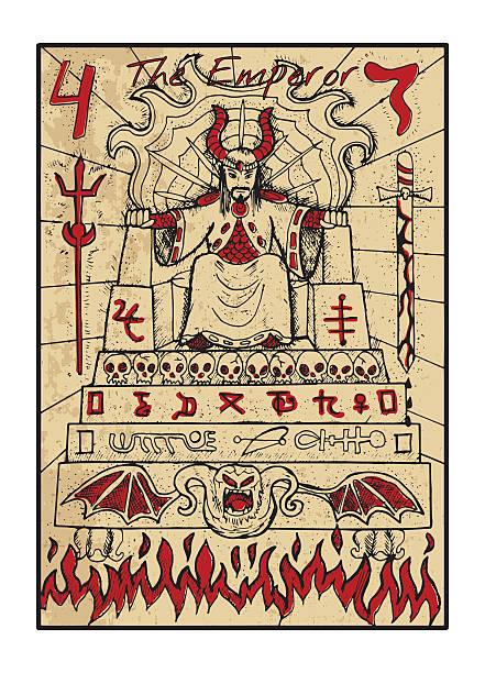 bildbanksillustrationer, clip art samt tecknat material och ikoner med the emperor. the tarot card in color - tron sci fi