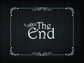 """Eps 10 Vector illustration of """"The End"""" frame of an Old Movie"""