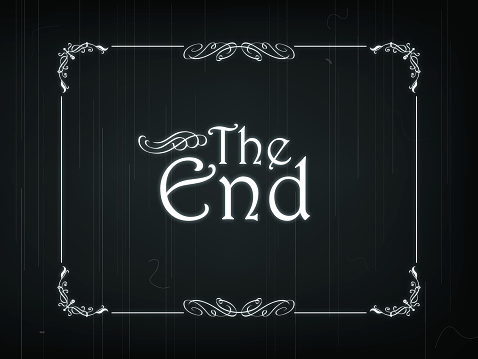 The End Of An Old Movie Stock Illustration - Download Image Now