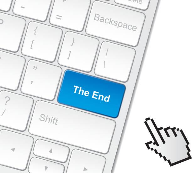 ende auf der tastatur - schlüsselfertig stock-grafiken, -clipart, -cartoons und -symbole