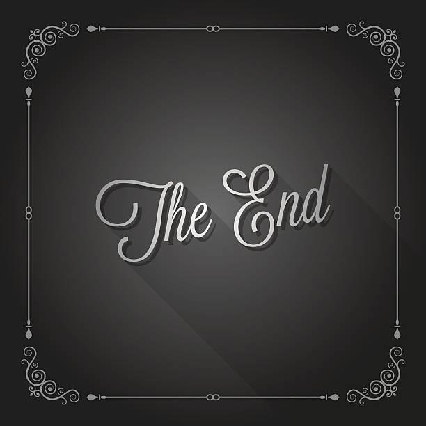 illustrations, cliparts, dessins animés et icônes de la fin de fin de film - fin