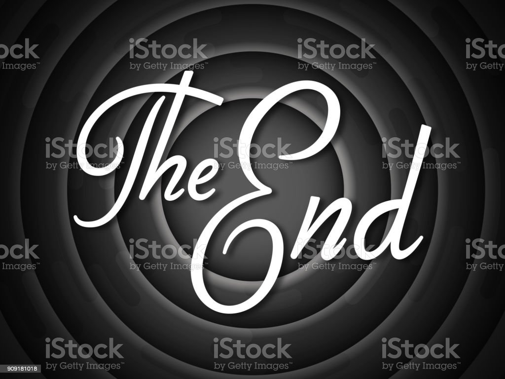 The End vector art illustration