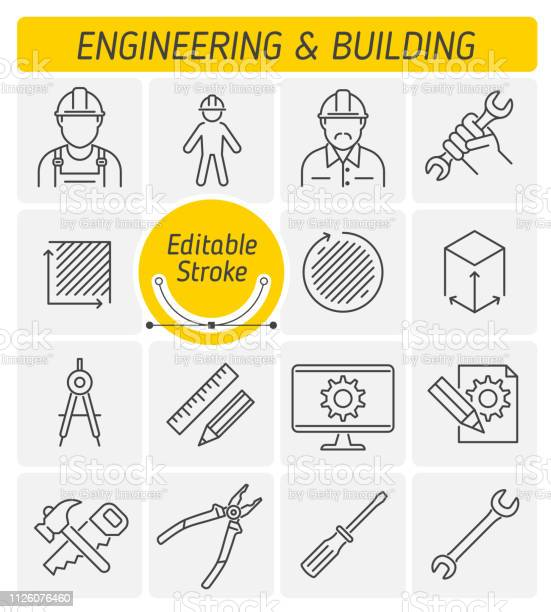 The engineering and building outline vector icon set vector id1126076460?b=1&k=6&m=1126076460&s=612x612&h=c ihdxza igwrazwmpwqvcxnrmxb0fifqh3hrcabdj4=