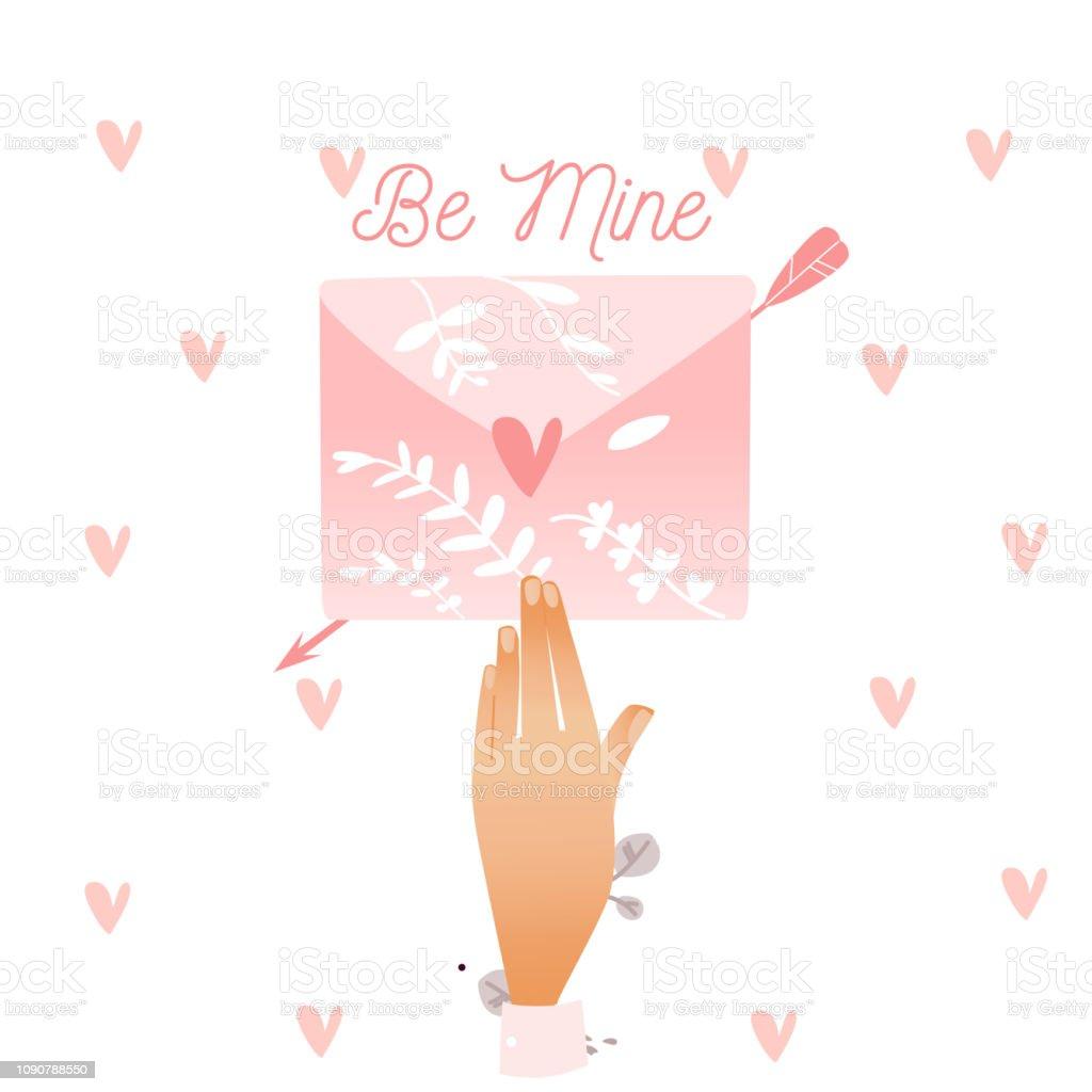Lenveloppe Mappartenir Lettre S Amant Rose Avec Cœur Et