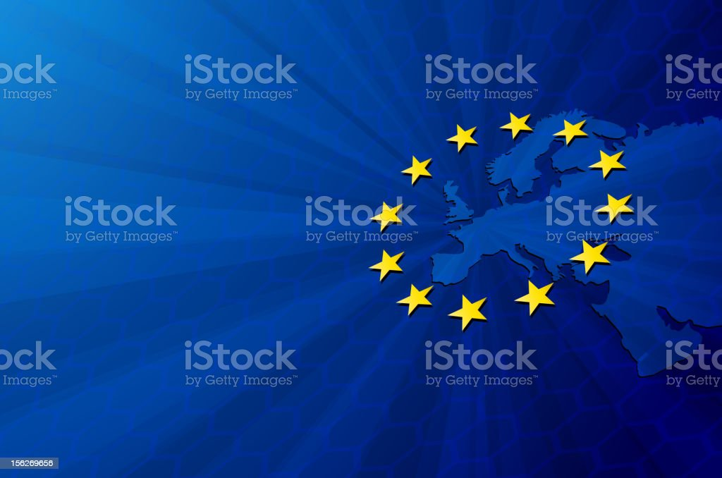 The European Union illustrated on a background royalty-free stock vector art