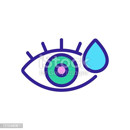 istock the eye cries the icon vector. Isolated contour symbol illustration 1210492811