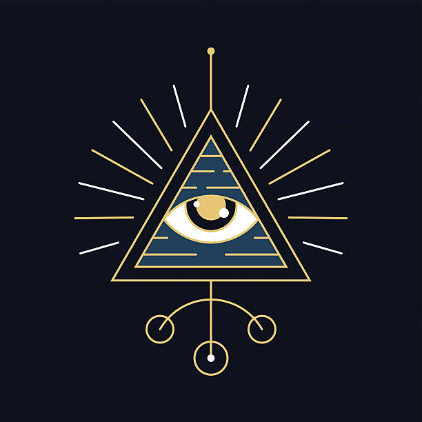 The Eye Symbol - Sacred Geometry Style vector art illustration