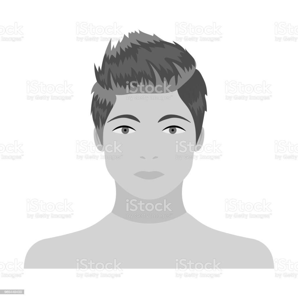The face of a young guy. Face and appearance single icon in monochrome style vector symbol stock illustration web. the face of a young guy face and appearance single icon in monochrome style vector symbol stock illustration web - stockowe grafiki wektorowe i więcej obrazów antropomorficzna twarz royalty-free