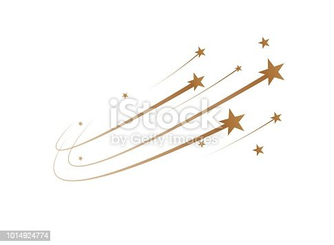 The falling stars are a simple drawing. Vector illustration
