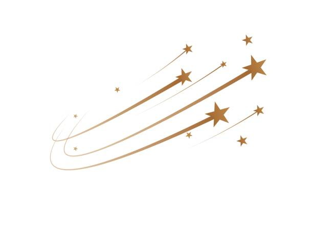 The falling stars are a simple drawing. Vector The falling stars are a simple drawing. Vector illustration stars stock illustrations