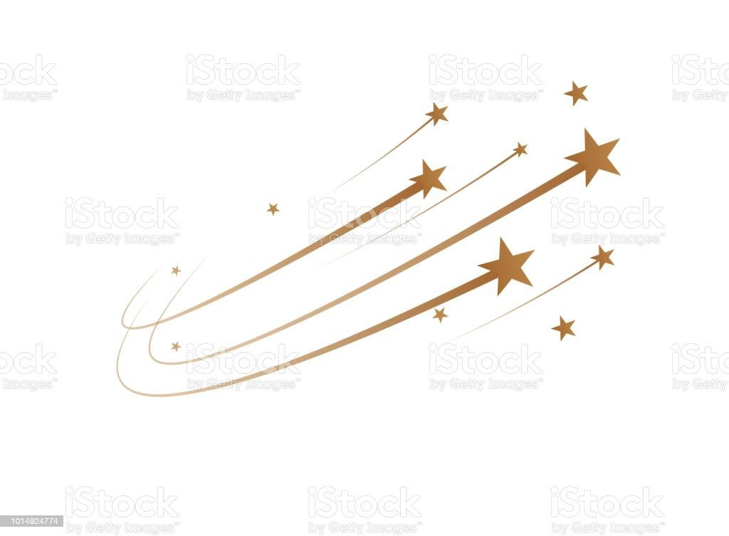 The falling stars are a simple drawing. Vector vector art illustration