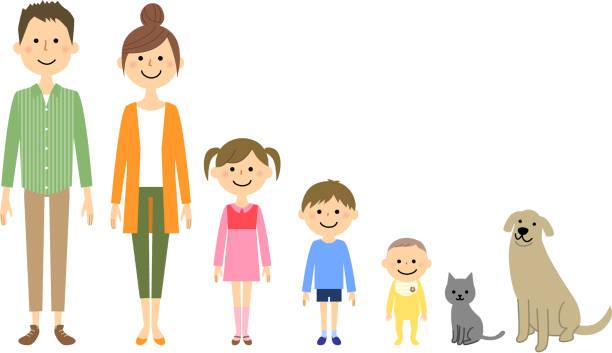 私の家族は仲が良いよ - 母娘 笑顔 日本人点のイラスト素材/クリップアート素材/マンガ素材/アイコン素材
