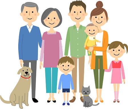 私の家族は仲が良いよ - イラストレーションのベクターアート素材や画像を多数ご用意