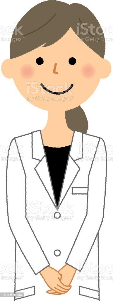 白衣の女性 ベクターアートイラスト