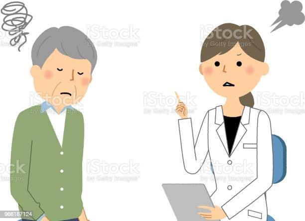 The Female Of The White Coatmedical Examinationcaution Stock Illustration - Download Image Now