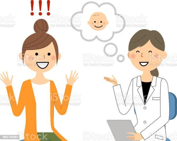 Kvinnligt Av Vita Pälsen Läkarundersökning Graviditet-vektorgrafik och fler bilder på Bebis