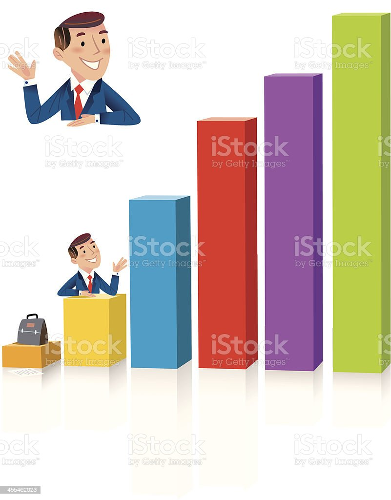 The figures speak for themselves! royalty-free stock vector art