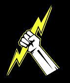 Zeus hand. Design element. Vector illustration.
