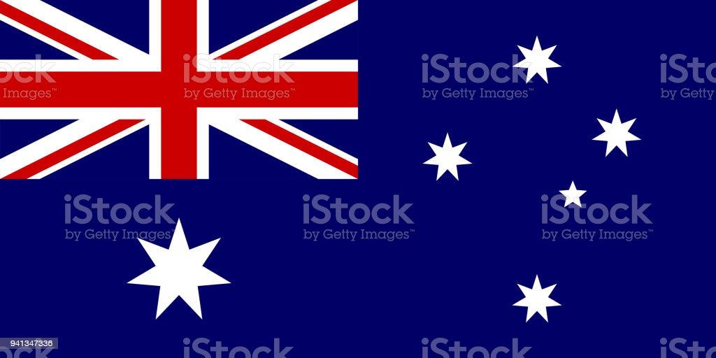 A bandeira da Austrália. Símbolo nacional do estado. Ilustração em vetor. - ilustração de arte em vetor