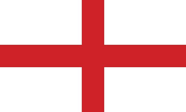 flagge von england - england stock-grafiken, -clipart, -cartoons und -symbole