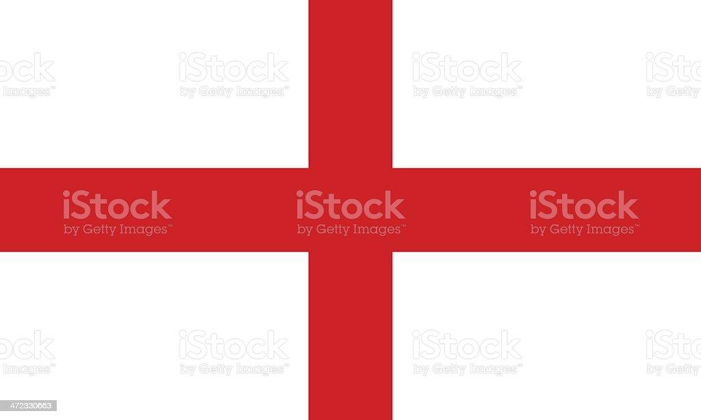 Drapeau de l'Angleterre - Illustration vectorielle