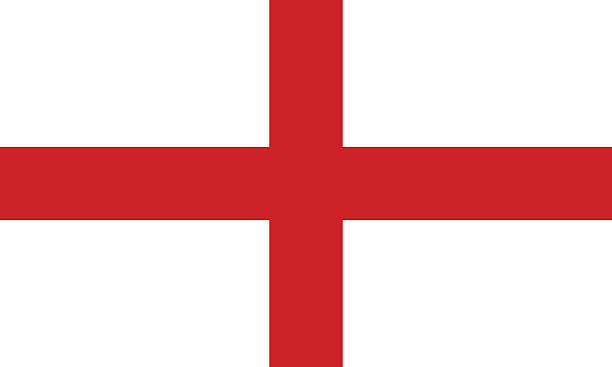 The Flag of England with a white background and red cross Proportion 2:3, Flag of England england stock illustrations