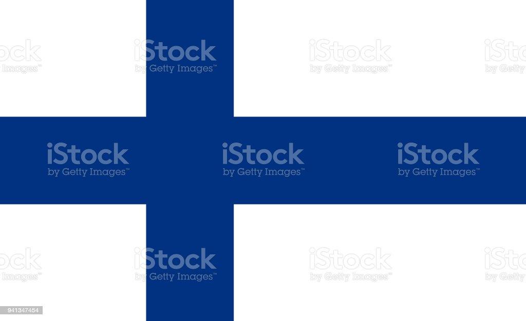 Die Flagge von Finnland. Nationales Symbol des Staates. Vektor-Illustration. – Vektorgrafik