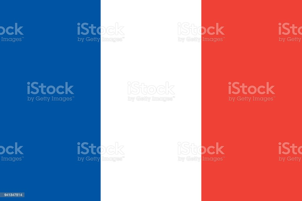 The Flag Of France National Symbol Of The State Vector Illustration
