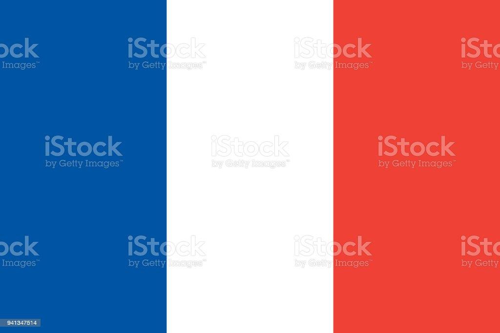 The Flag of France. National symbol of the state. Vector illustration. vector art illustration