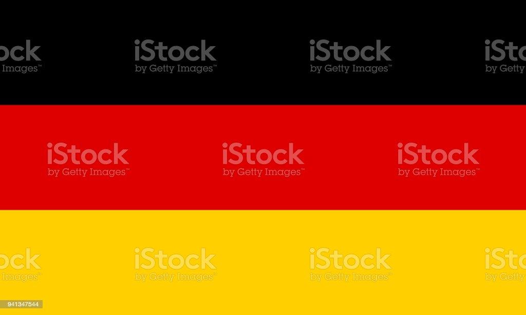 La bandera de Alemania. Símbolo nacional del estado. Ilustración de vector. - ilustración de arte vectorial