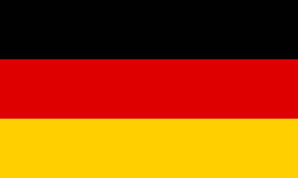ilustraciones, imágenes clip art, dibujos animados e iconos de stock de la bandera de alemania. símbolo nacional del estado. ilustración de vector. - bandera alemana