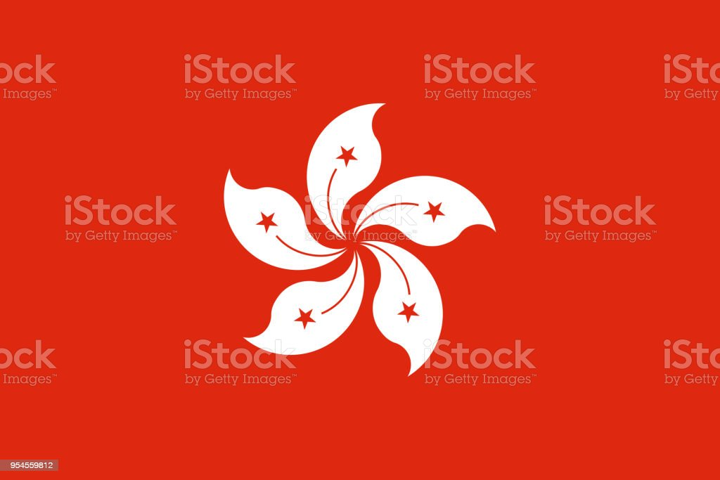 The Flag Of Hong Kong National Symbol Of The State Vector