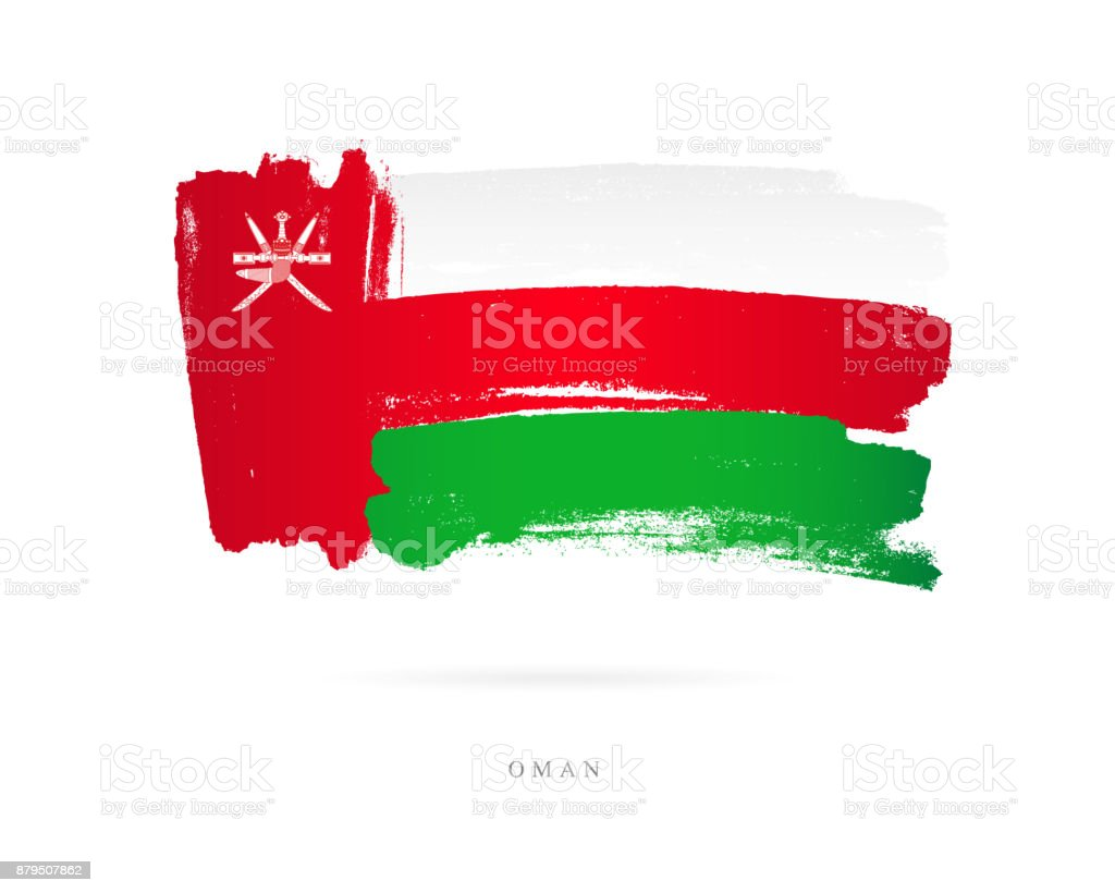 The flag of Oman. Vector illustration