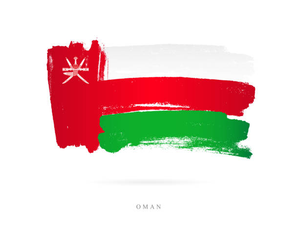 the flag of oman. vector illustration - oman stock illustrations