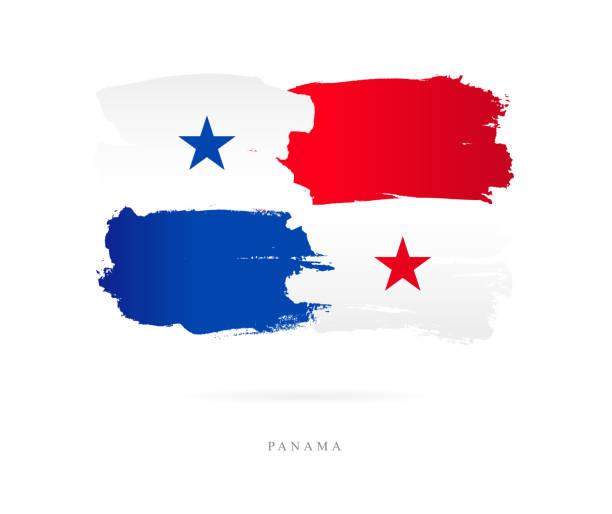 Die Flagge von Panama. Vektor-illustration – Vektorgrafik