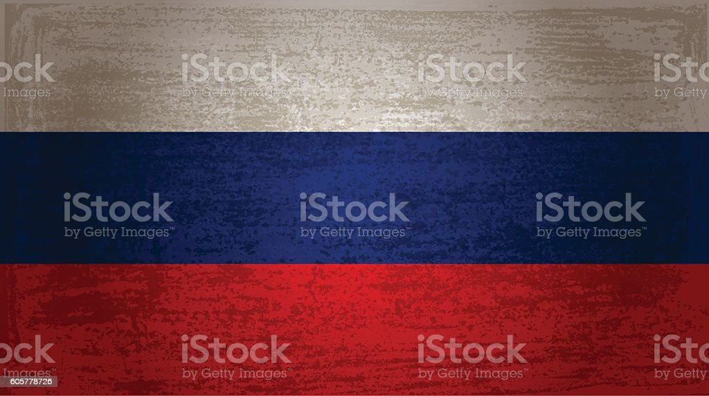 The flag of Russia - ilustración de arte vectorial