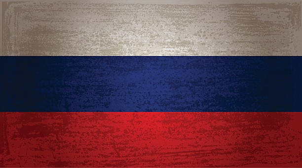 the flag of russia - russian flag stock illustrations, clip art, cartoons, & icons