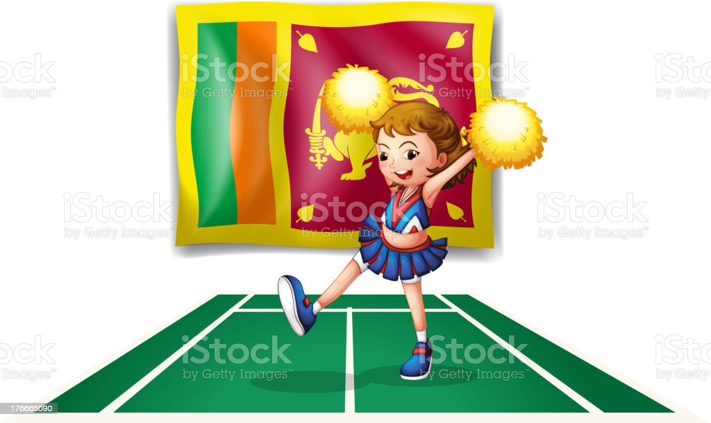 The flag of Sri Lanka and  cheerdancer royalty-free the flag of sri lanka and cheerdancer stock vector art & more images of adult