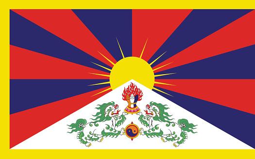 The flag of Tibet