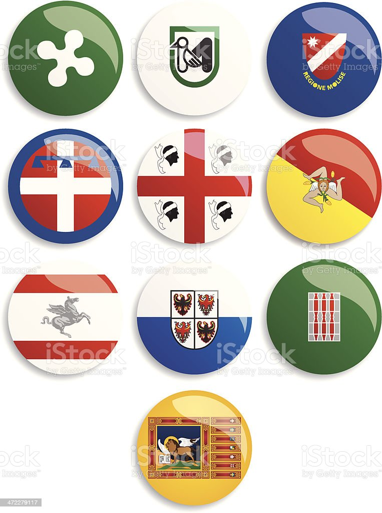 The flags of Italian regions (Le bandiere delle regioni italiane) royalty-free the flags of italian regions stock vector art & more images of flag