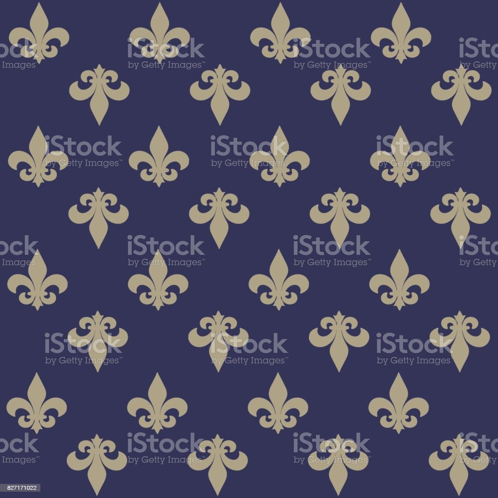 The Fleurdelis Or Flowerdeluce Seamless Pattern Background With