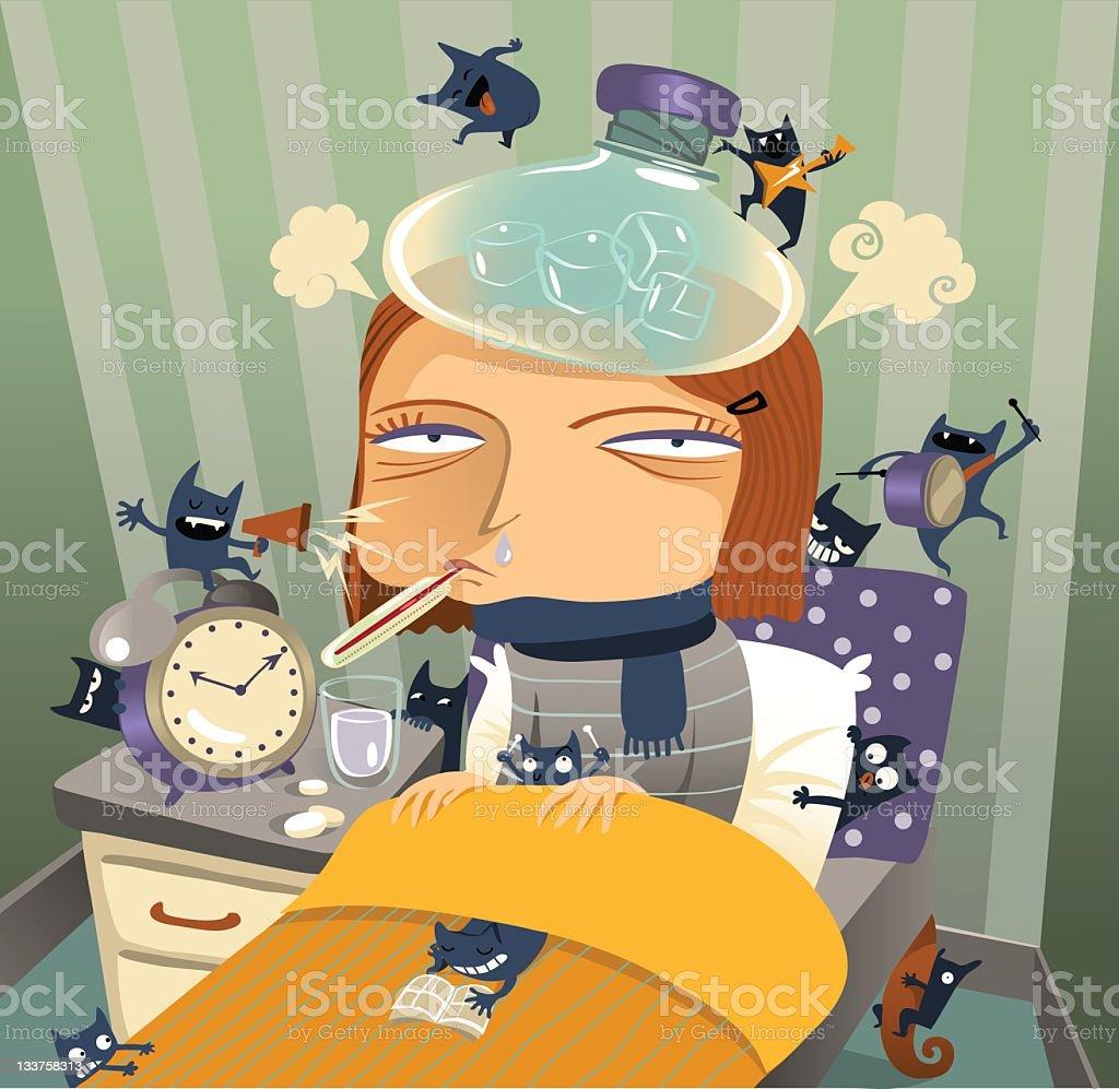 The flu vector art illustration