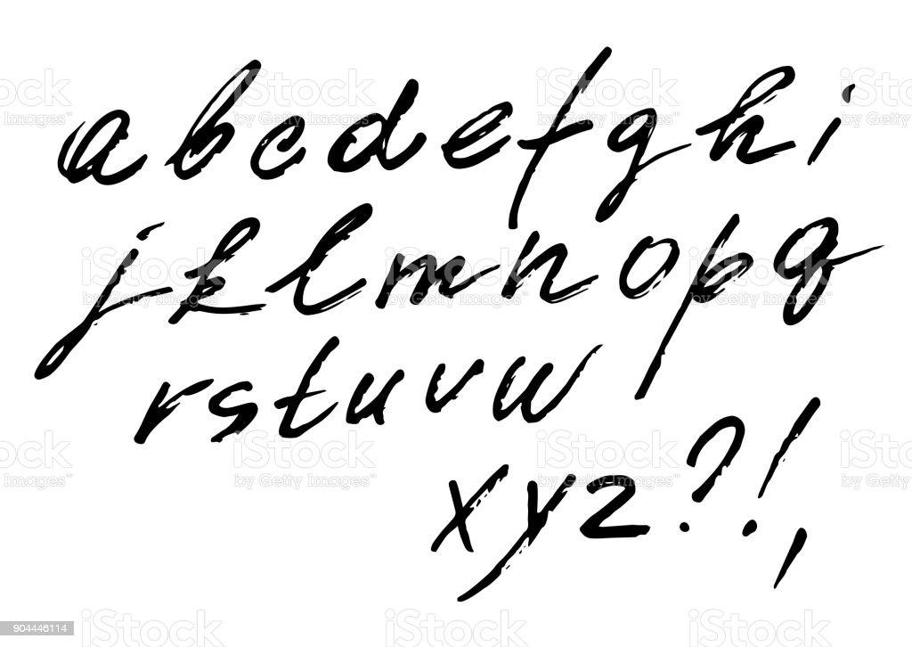The Font Vector Set Of Cursive Alphabet Italic Written Marker Fast Style