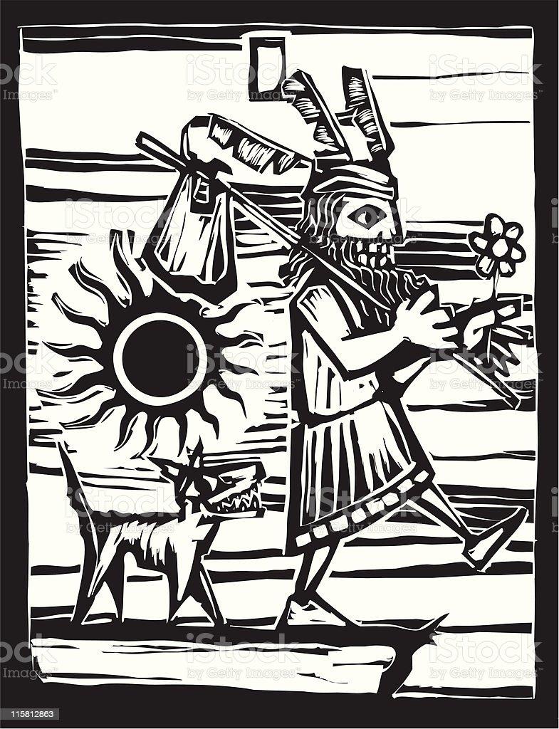 The Fool vector art illustration