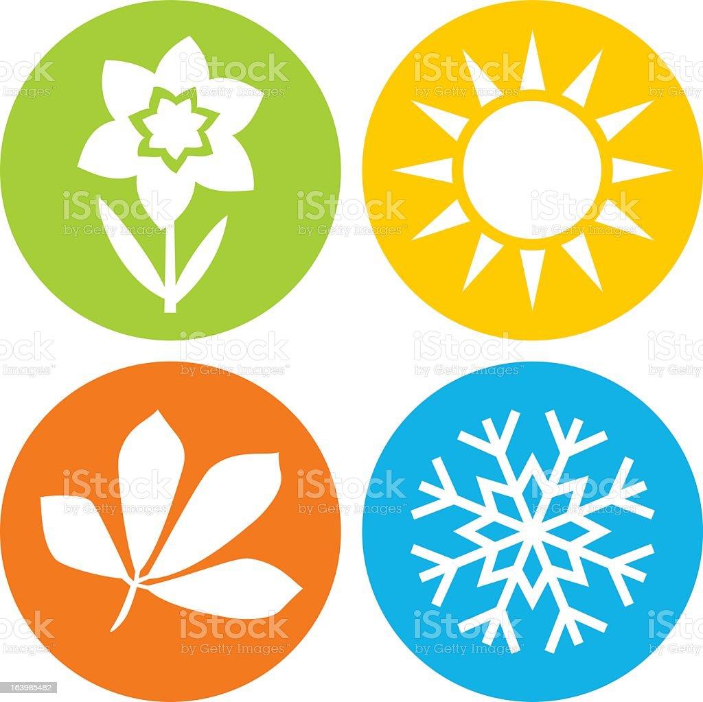 royalty free seasons clip art vector images