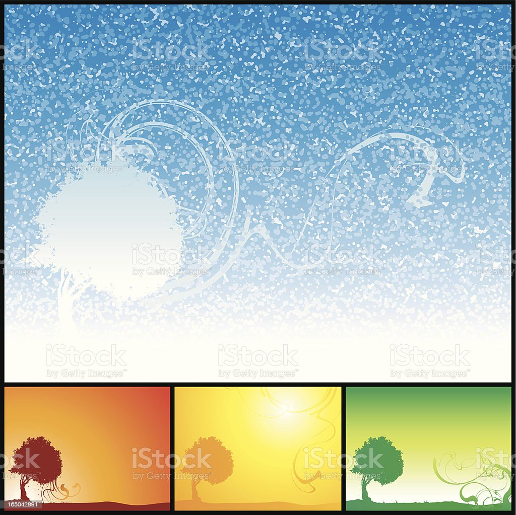 The Four Seasons royalty-free stock vector art