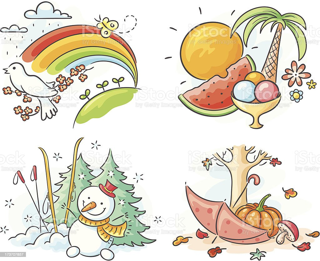 The four seasons royalty-free the four seasons stock vector art & more images of autumn