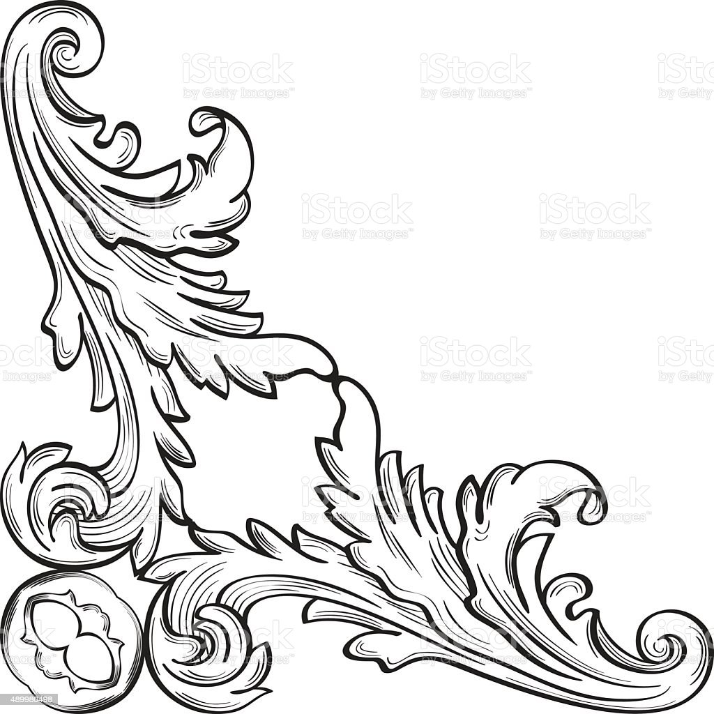 The frame with acanthus leafs vector art illustration